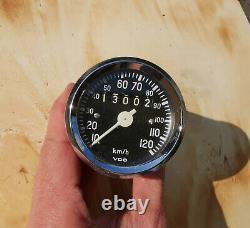 Universal VDO Tacho, 60mm, 120 kmh, instandgesetzt, top Zustand, speedometer