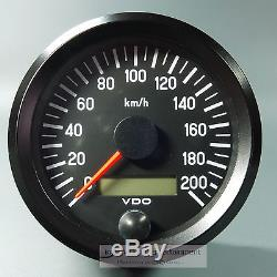 VDO elektr. TACHOMETER 200 KM/H 12V 24V 80mm universal SPEEDOMETER