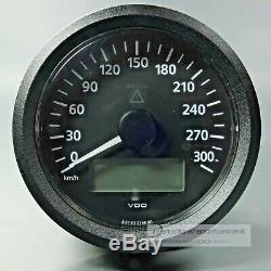 Vdo Viewline Elektronischer Tachometer 300km/h 85mm Speedometer 12/24v