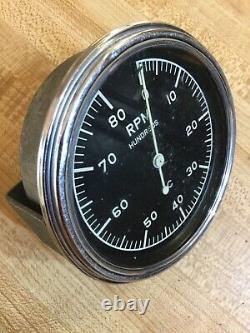 Vintage Corvette Black Widow Tach Tachometer Drag Race Gasser Scta Trog Hemi