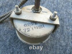 Vintage Stewart Warner Water Temp Gauge # 692E 69521 1950s Large Face Works
