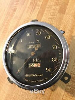 Vintage Survey Speedometer 35 36 37 38 39 Rat Ford Hot Rod Lincoln Scta Trog