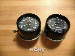 Yamaha XT 500 TT500 Clock Set Speedo Speedometer Rev Tachometer